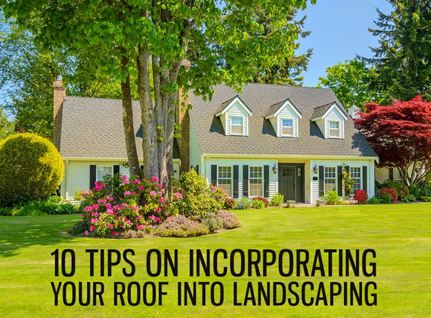 Roof into Landscaping